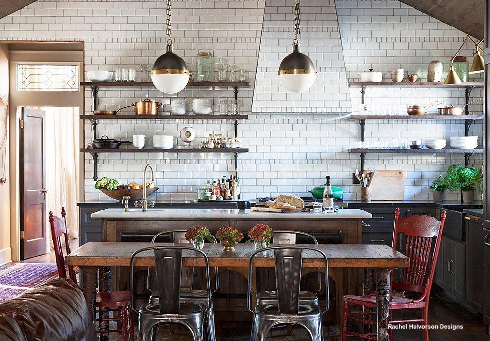open shelves kitchen hanging design   The Kitchen Table-Bring It Back Please! - Little Black ...